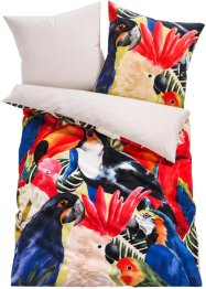 Biancheria da letto double-face in fantasia tropicale, bpc living bonprix collection