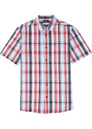 Camicia a maniche corte in fantasia a quadri, bpc bonprix collection