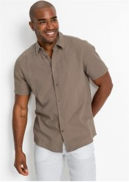 Camicia in misto lino a maniche corte, bpc bonprix collection