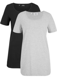 T-shirt lunga basic (pacco da 2), bpc bonprix collection