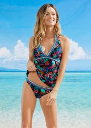 Top tankini con scollo all'americana, RAINBOW