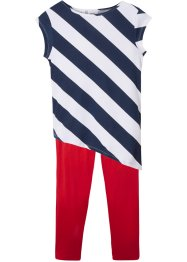 Top lungo e leggings a pinocchietto (set 2 pezzi), bpc bonprix collection