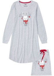 Camicia da notte in cotone biologico con sacchetto regalo, bpc bonprix collection