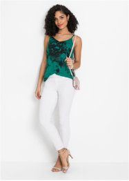 Top in satin batik con spalline sottili, BODYFLIRT