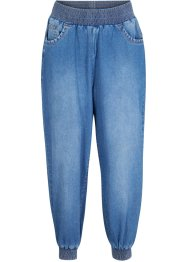 Jeans cropped con cinta comfort loose fit, bpc bonprix collection