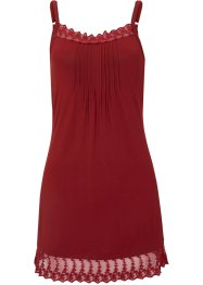 Top con pizzo e spalline regolabili, bpc bonprix collection