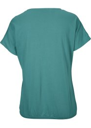 T-shirt in cotone con elastico e stampa, bpc bonprix collection