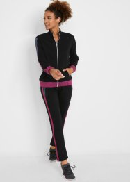 Felpa con zip e pantaloni (set 2 pezzi), bpc bonprix collection