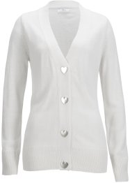 Cardigan Maite Kelly con bottoni a cuore, bpc bonprix collection