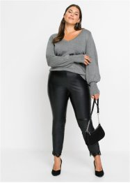 Leggings in similpelle con pizzo, BODYFLIRT