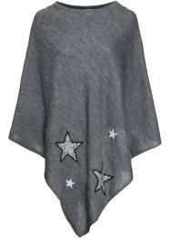 Poncho con stelle di paillettes, bpc bonprix collection