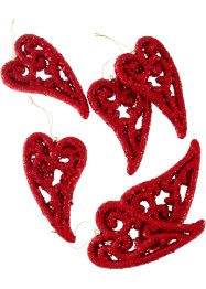 Decorazione da appendere a forma di cuore (set 6 pezzi), bpc living bonprix collection