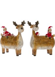 Soprammobile con renna e Babbo Natale (set 2 pezzi), bpc living bonprix collection