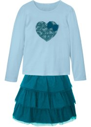 Maglia e gonna in tulle (set 2 pezzi), bpc bonprix collection