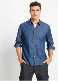 Camicia in jeans slim fit, RAINBOW