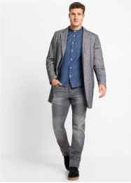 Camicia in jeans con colletto alla coreana slim fit, RAINBOW