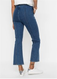 Jeans a zampa cropped in cotone biologico, RAINBOW