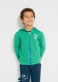 Felpa in cotone biologico  con zip, bpc bonprix collection