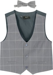 Gilet e papillon (set 2 pezzi), bpc bonprix collection