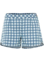 Shorts di jeans a quadretti in cotone biologico, RAINBOW