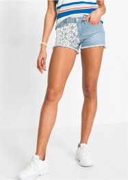 Shorts di jeans con pizzo, RAINBOW