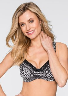 Reggiseno (pacco da 2), bpc bonprix collection, Fantasia + nero