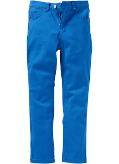 Pantalone slim fit in twill, John Baner JEANSWEAR, Bluette