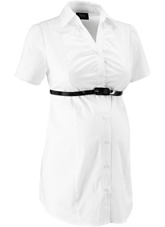 Camicia prémaman con cintura, bpc bonprix collection, Bianco