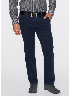 Pantalone chino in velluto regular fit, bpc selection, Blu scuro