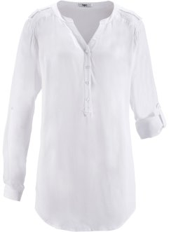 Blusa a manica lunga, bpc bonprix collection, Bianco