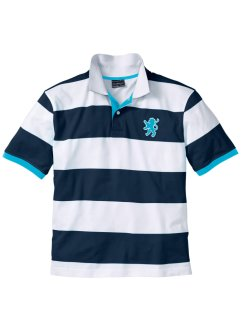 Polo regular fit, bpc selection, Blu scuro / bianco a righe