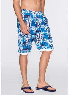 Bermuda da spiaggia, bpc bonprix collection, Bluette stampato
