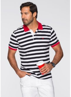Polo a righe regular fit, bpc selection, Nero / bianco a righe
