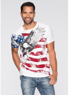 T-shirt slim fit, John Baner JEANSWEAR, Bianco panna