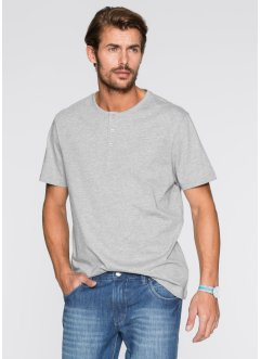 T-shirt (pacco da 3) regular fit, bpc bonprix collection, Grigio chiaro melange + antracite + nero