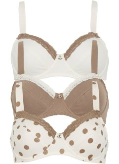 Reggiseno, bpc bonprix collection, Fantasia + champagne + marroncino