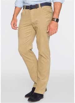 Pantalone in velluto regular fit straight, bpc bonprix collection, Beige