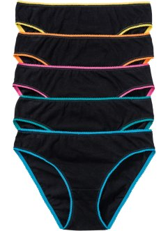 Slip (pacco da 5), bpc bonprix collection, Nero / multicolore