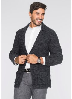 Cardigan regular fit, bpc bonprix collection, Grigio scuro melange