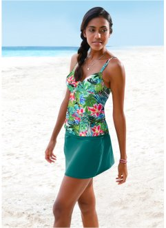 Top con ferretto per tankini, bpc bonprix collection, Verde fantasia