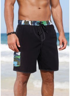 Pantaloncini da bagno, bpc bonprix collection, Nero / blu / verde