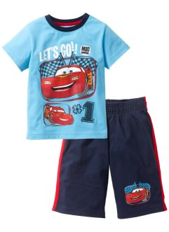 "T-shirt + bermuda "" Cars "", Turchese / blu scuro Cars"