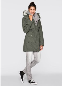 Parka, bpc bonprix collection, Verde oliva scuro