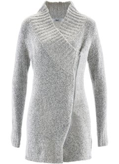 Cardigan in bouclé, bpc bonprix collection, Bianco panna