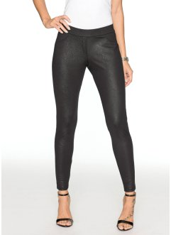 Leggings con fantasia lucida, BODYFLIRT, Nero