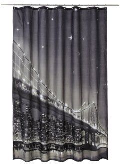 "Tenda per doccia con LED ""Brooklyn Bridge"", bpc living"