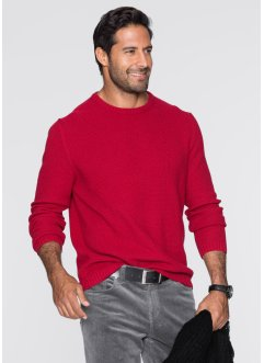 Pullover regular fit, bpc bonprix collection, Rosso scuro