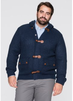 Cardigan con cappuccio regular fit, bpc bonprix collection, Nero