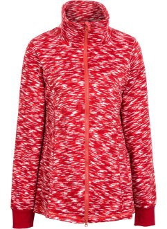 Cardigan con pile, bpc bonprix collection, Rosso scuro
