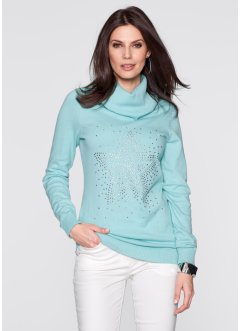 Pullover a collo alto con stella di strass, bpc selection